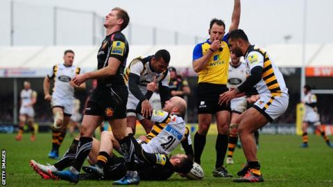 Wasps and Exeter drew 35-35 when they last met at Sandy Park in February, sharing 10 tries