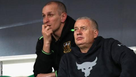 Alan Dickens (left) and Chris Boyd watch on