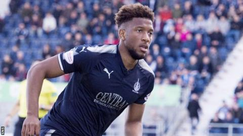 Myles Hippolyte in action for Falkirk