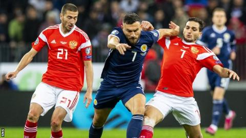 Robert Snodgrass made his last Scotland appearance in the 4-0 Euro qualifying defeat by Russia