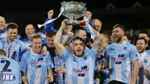 Ballymena are aiming to retain the League Cup they won in February by beating Carrick Rangers at Seaview