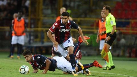 Algeria's Saphir Taider in action for his former club Bologna