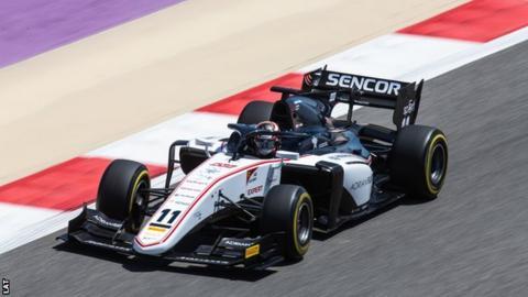 Callum Ilott driving in Formula 2