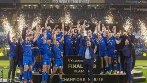 Defending champions Leinster were unbeaten when the season was halted