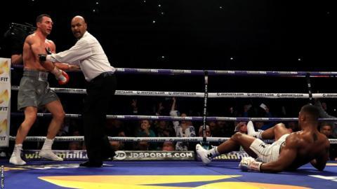 Wladimir Klitschko and Anthony Joshua fight