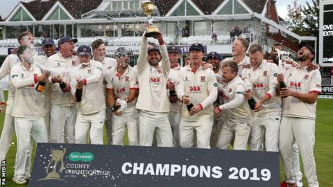 Essex lift the County Championship trophy
