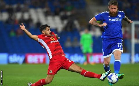 Stephen Hendrie (left) in action for Blackburn