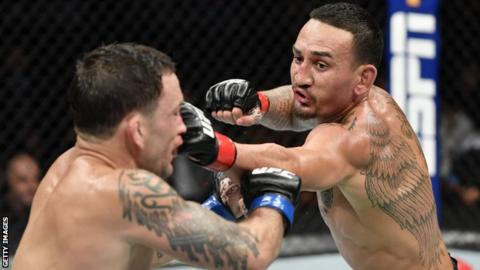 Max Holloway and Cris Cyborg dominate at UFC 240