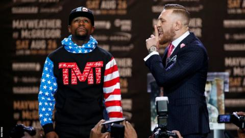 McGregor (right) was first of the fighter to taunt their rival