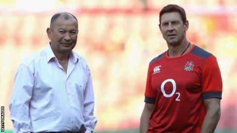 Rugby Eddie Jones and Scott Wisemantel