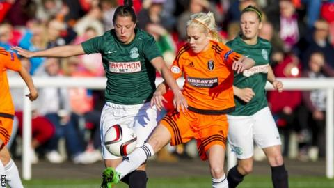Glasgow City and Hibernian meet at Airdrie's Excelsior Stadium on Sunday