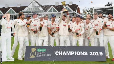 Essex win County Championship: Draw at Somerset confirms 2019 title