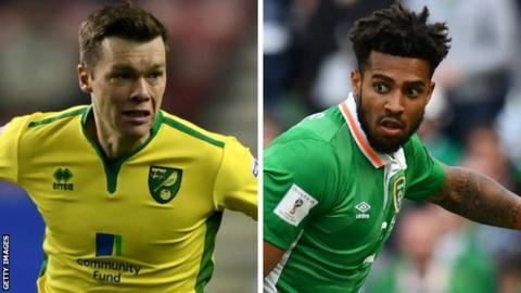 Jonny Howson and Cyrus Christie