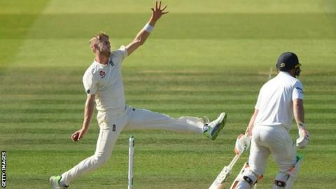 Olly Stone made his Test debut for England in the win over Ireland at Lord's