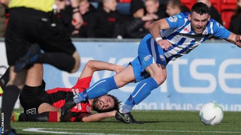 Irish Premiership: Coleraine go top on goal difference after win at Crusaders