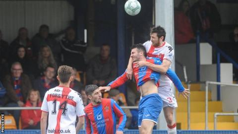 Crusaders defeated Ards 1-0 in their Premiership meeting in Bangor in September