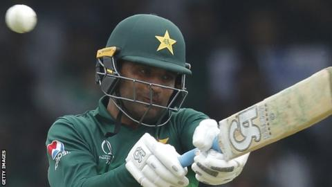 Fakhar Zaman hits out in a match for Pakistan