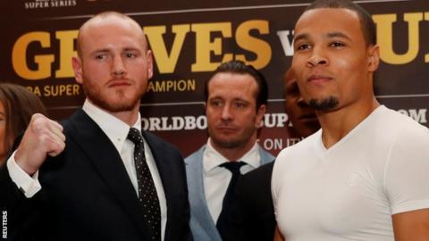 Groves (left) will put his WBA world super-middleweight title on the line against Eubank Jr