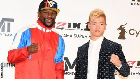 Boxer Floyd Mayweather and kickboxer Tenshin Nasukawa