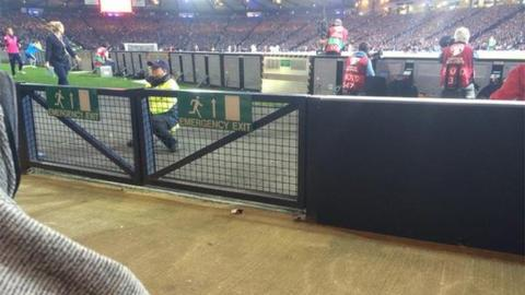 View of the Hampden pitch from the disabled area