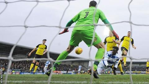 Aramide Oteh scoring his first goal for QPR