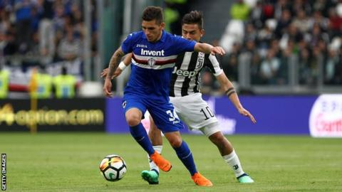 Lucas Torreira in action for Sampdoria
