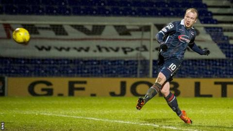 Liam Boyce scores for Ross County against Dundee