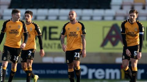 Cambridge United players