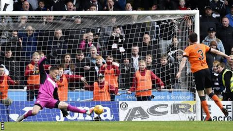 Dundee United lost the Premiership play-off final on penalties to St Mirren in May