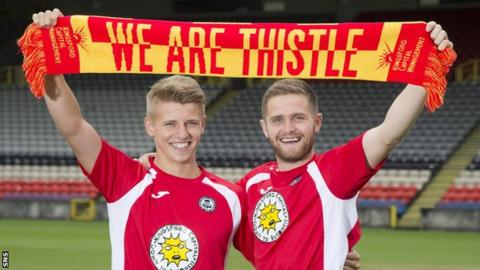 David Syme and Danny Devine at Firhill