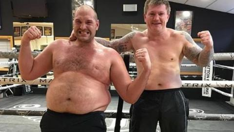 What's it like to share a ring with Tyson Fury?