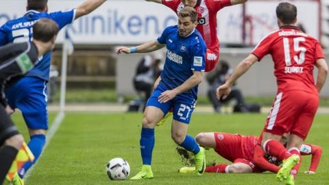 Footballer Mavrias in action for arlsruher SC