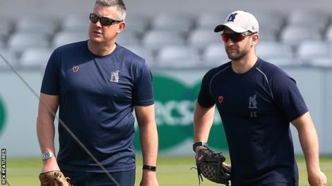 Bears sport director Ashley Giles (left) and first-team coach Jim Troughton