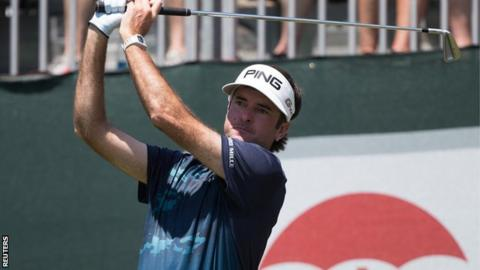 Bubba Watson hits a tee shot at the Travelers Championship