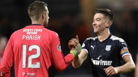 Dundee's Elliot Parish and Cammy Kerr