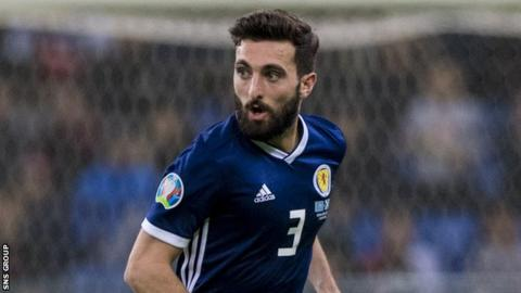 Aberdeen captain Graeme Shinnie won his sixth cap in Kazakhstan