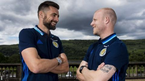 Scotland's Russell Martin and Steven Naismith