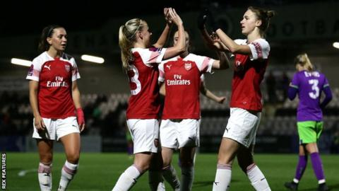 Arsenal Women 4-0 Bristol City Women  Vivianne Miedema hat-trick ... 1e124b04ea