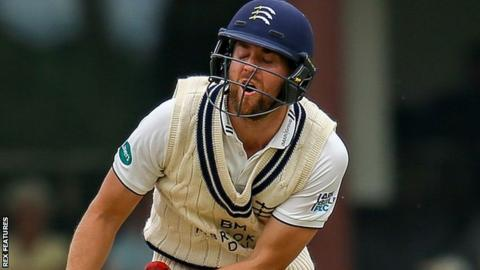 David Malan in action against Glamorgan