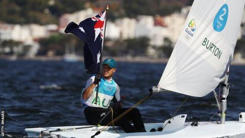 Gold medal winner Tom Burton