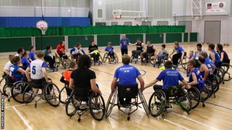 Wheelchair basketball coaching at Cheshire Phoenix