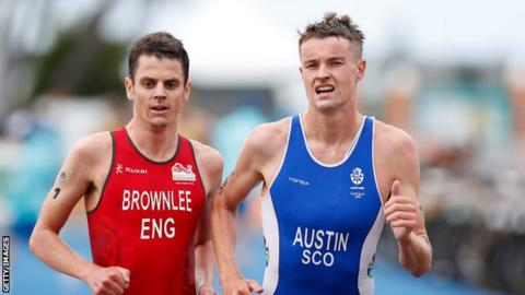 Marc Austin beat both the Brownlee brothers at the Gold Coast Commonwealth games.