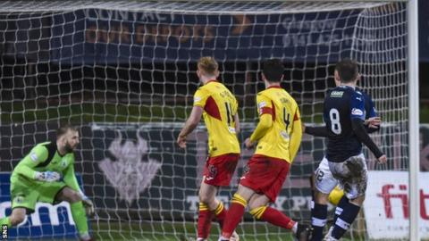 Regan Hendry's strike finds the bottom corner for Raith's winner