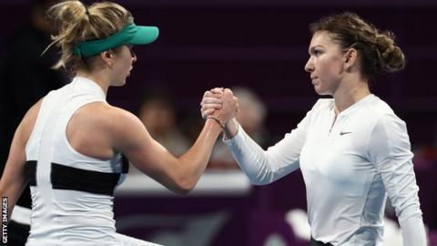 Simona Halep Angelique Kerber reach the Qatar Open semi-finals