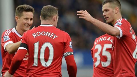 Morgan Schneiderlin, Ander Herrera and Wayne Rooney