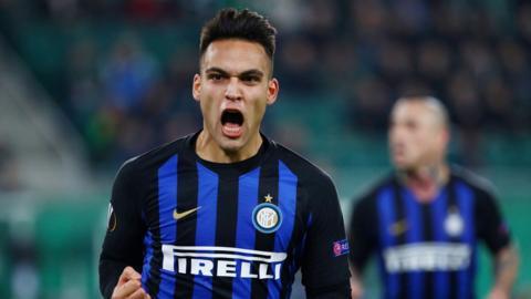 Inter Milan's Lautaro Martinez