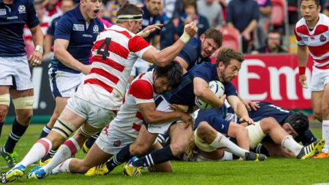 Scotland's Greg Laidlaw in action for Japan