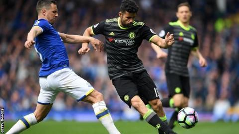 Diego Costa against Everton