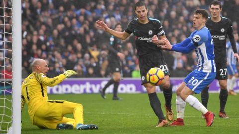 Brighton threaten Chelsea lead