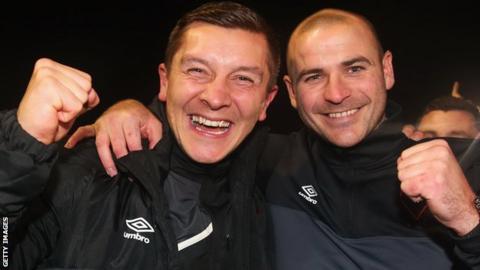 Anthony Johnson (left) and Bernard Morley